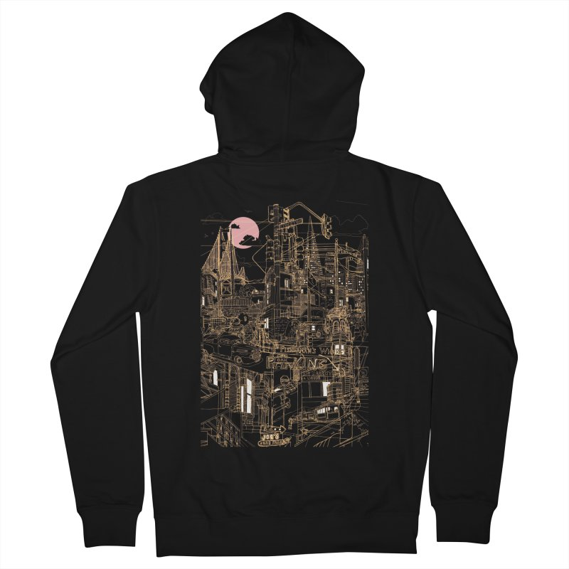 San Francisco! (Night) Women's Zip-Up Hoody by David Bushell Illustration-Design Shop