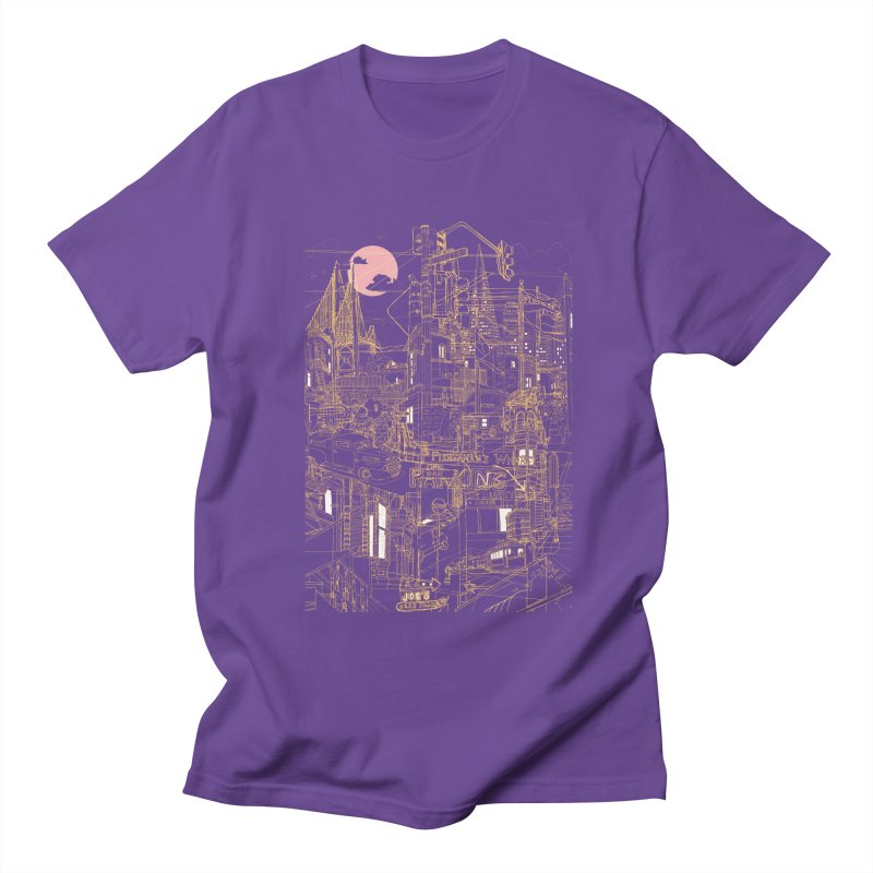 San Francisco! (Night) Men's T-shirt by David Bushell Illustration-Design Shop