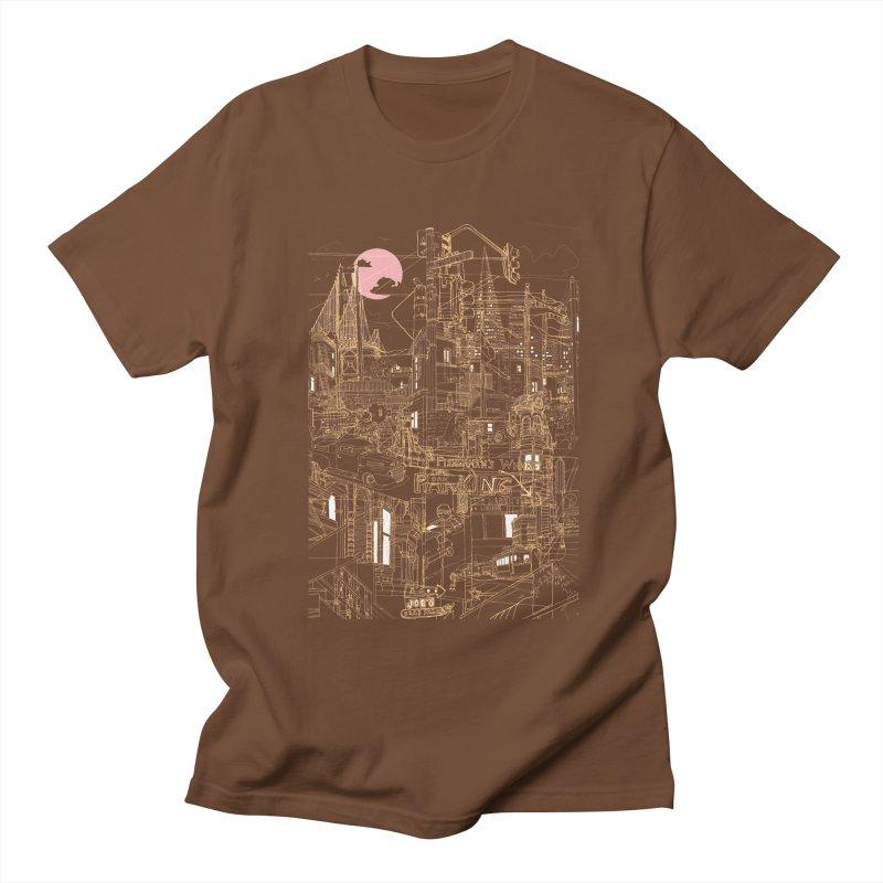 San Francisco! (Night) Men's T-Shirt by David Bushell Illustration-Design Shop