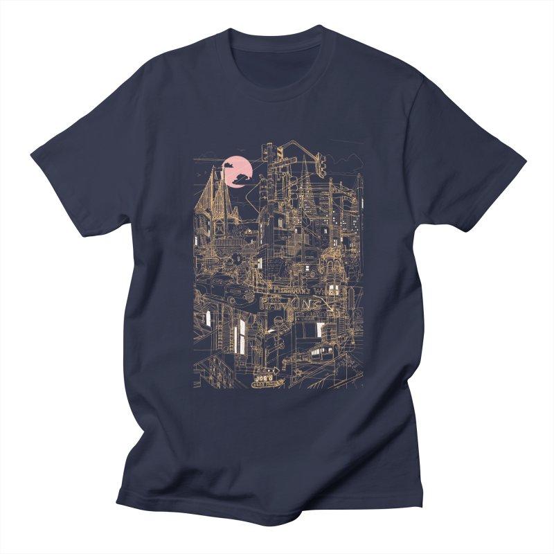 San Francisco! (Night) Women's Unisex T-Shirt by David Bushell Illustration-Design Shop