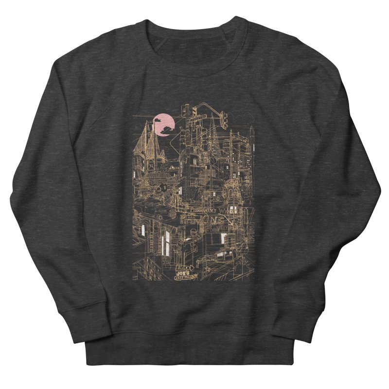 San Francisco! (Night) Men's Sweatshirt by David Bushell Illustration-Design Shop