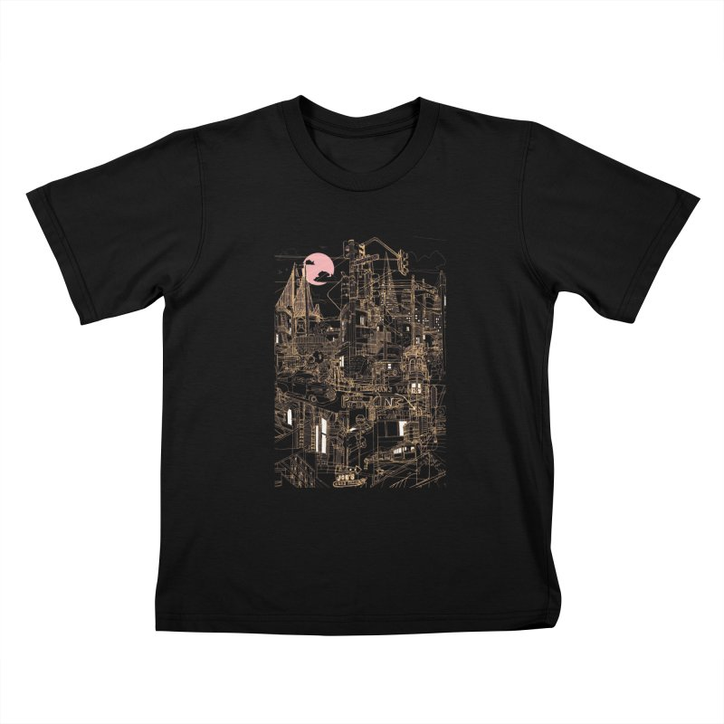 San Francisco! (Night) Kids T-Shirt by David Bushell Illustration-Design Shop