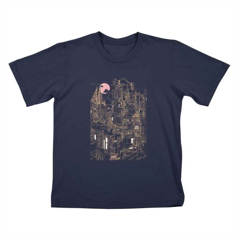 San Francisco! (Night) Kids T-Shirt by David Bushell Illustration-Design Shop