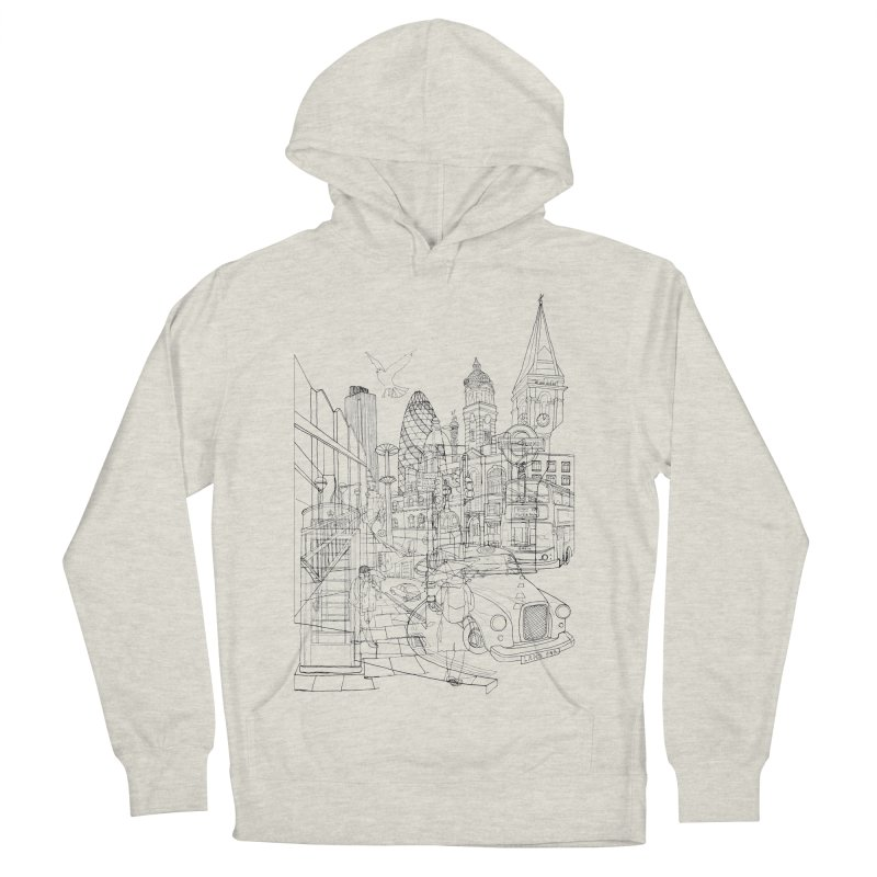 London! Men's Pullover Hoody by David Bushell Illustration-Design Shop
