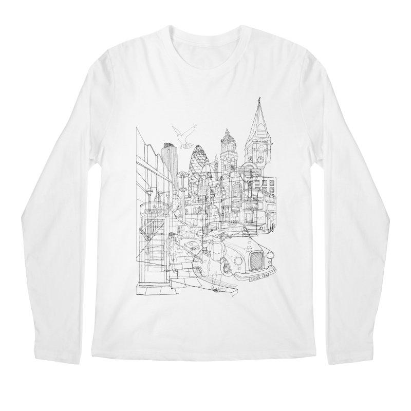 London! Men's Longsleeve T-Shirt by David Bushell Illustration-Design Shop