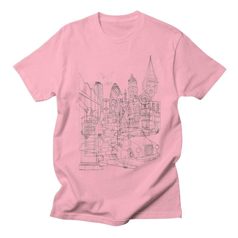 London! Men's T-shirt by David Bushell Illustration-Design Shop