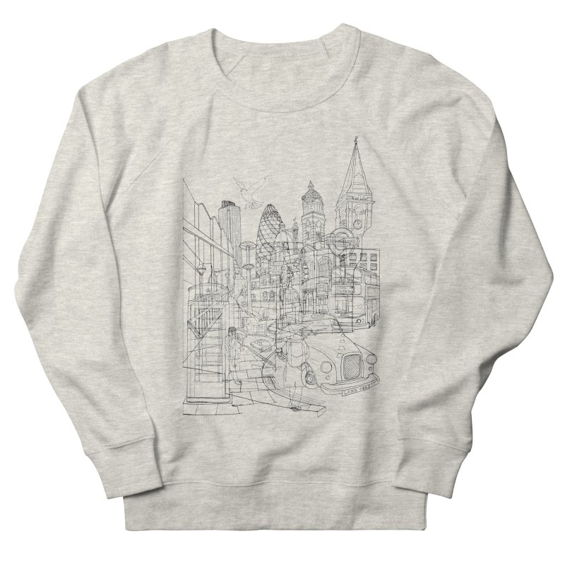 London! Men's Sweatshirt by David Bushell Illustration-Design Shop