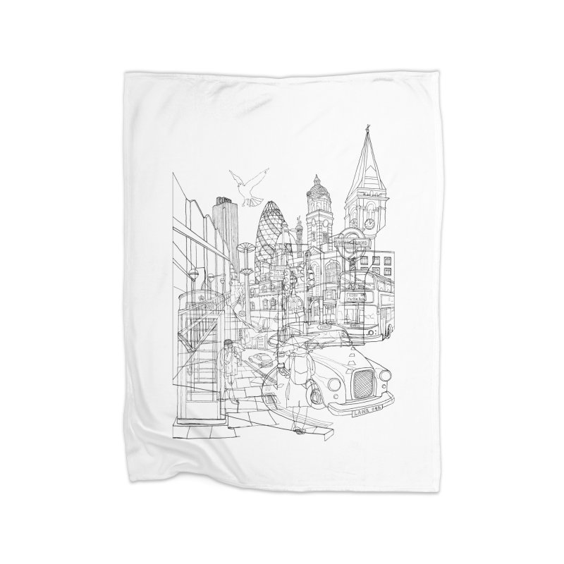 London! Home Blanket by David Bushell Illustration-Design Shop