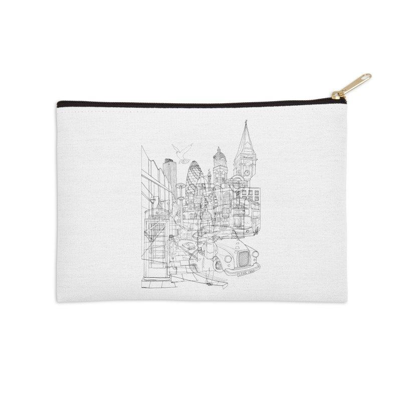 London! Accessories Zip Pouch by David Bushell Illustration-Design Shop