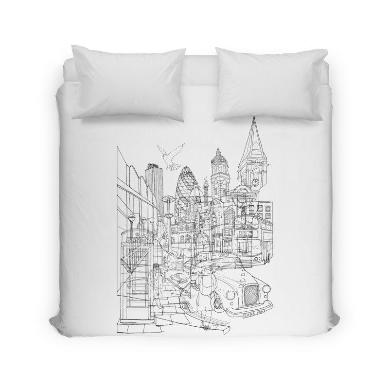 London! Home Duvet by David Bushell Illustration-Design Shop
