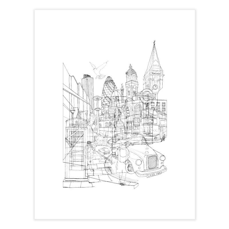 London! Home Fine Art Print by David Bushell Illustration-Design Shop