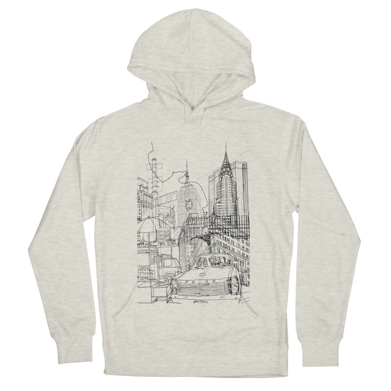 New York! Men's Pullover Hoody by David Bushell Illustration-Design Shop