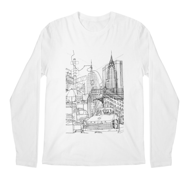 New York! Men's Longsleeve T-Shirt by David Bushell Illustration-Design Shop