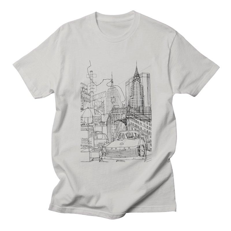 New York! Men's T-shirt by David Bushell Illustration-Design Shop