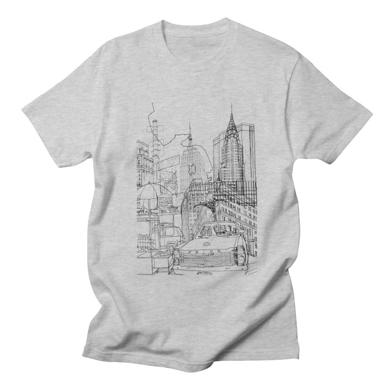 New York! Men's T-shirt by David Bushell Illustration-Design Shop