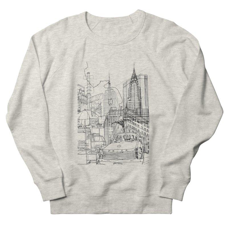New York! Men's Sweatshirt by David Bushell Illustration-Design Shop