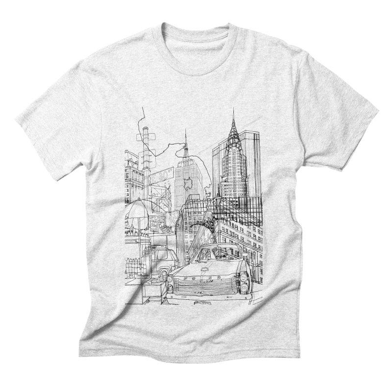 New York! Men's Triblend T-shirt by David Bushell Illustration-Design Shop