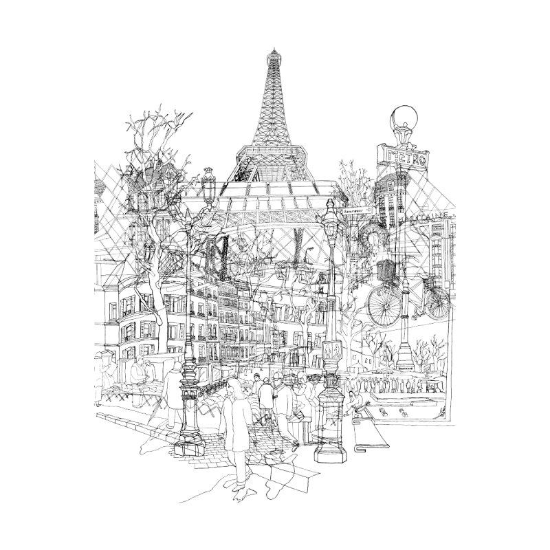 Paris! by David Bushell Illustration-Design Shop