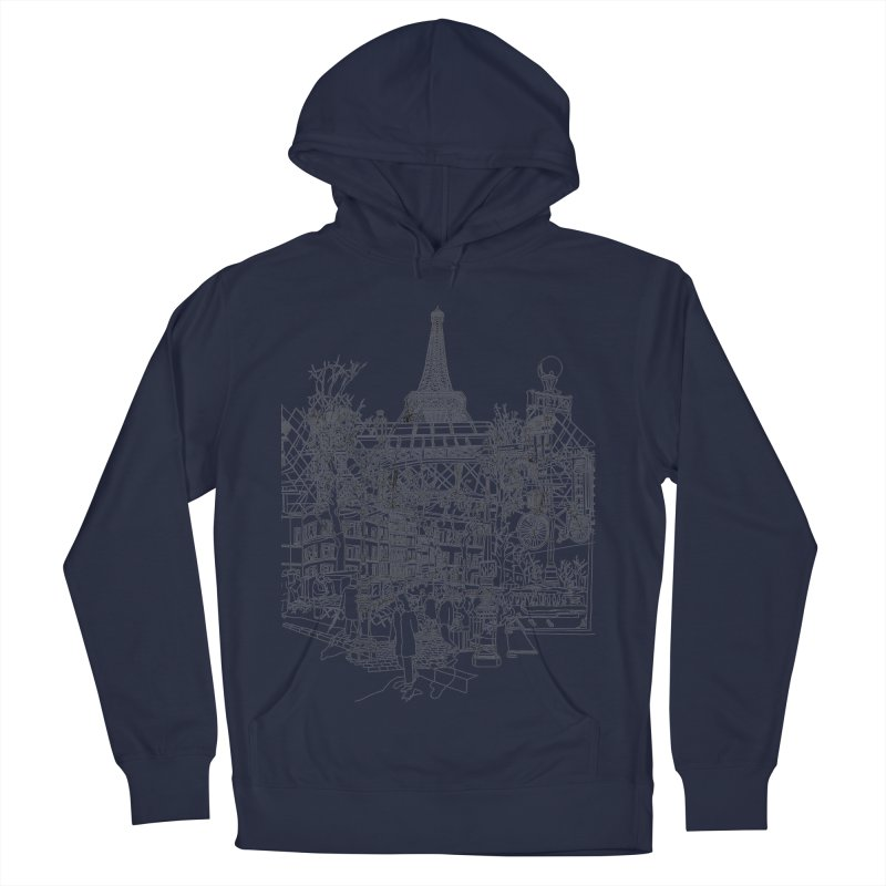 Paris! Women's Pullover Hoody by David Bushell Illustration-Design Shop