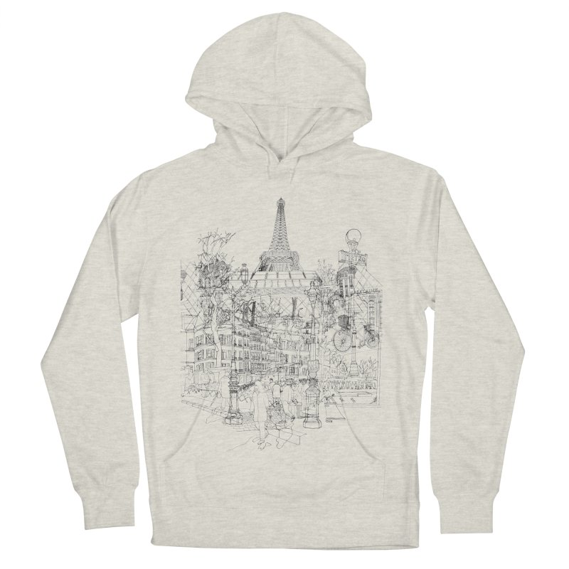 Paris! Men's Pullover Hoody by David Bushell Illustration-Design Shop