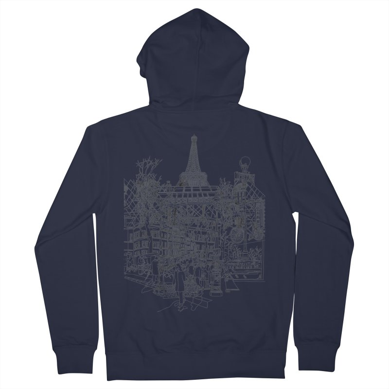 Paris! Women's Zip-Up Hoody by David Bushell Illustration-Design Shop