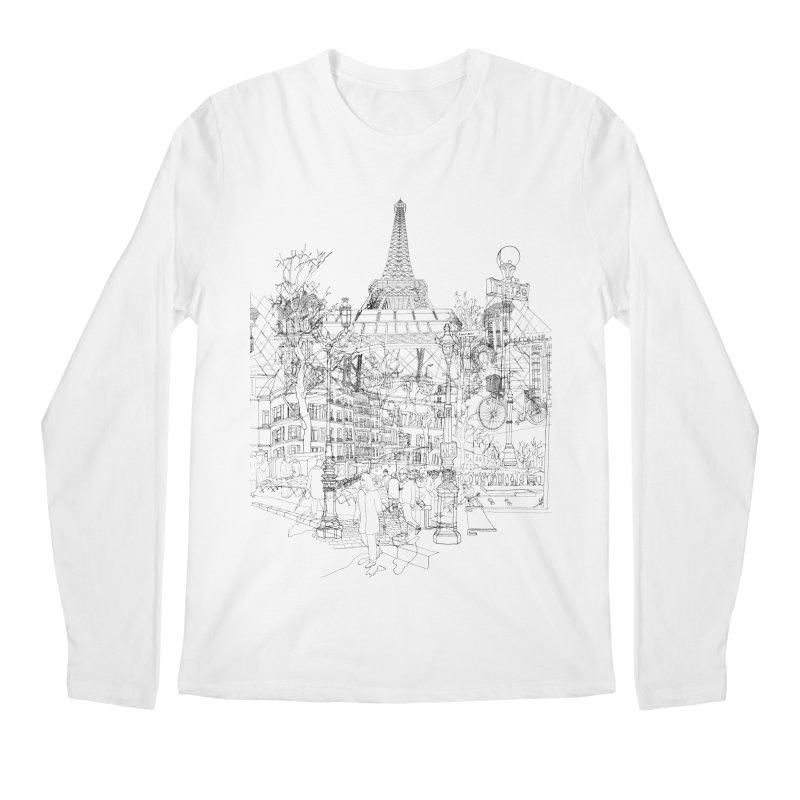Paris! Men's Longsleeve T-Shirt by David Bushell Illustration-Design Shop