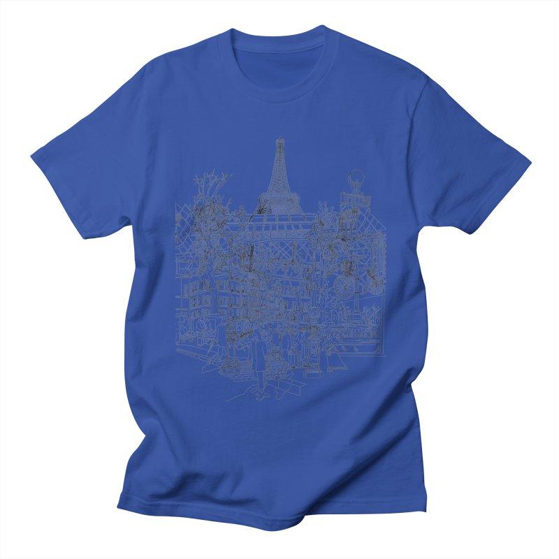 Paris! Women's Unisex T-Shirt by David Bushell Illustration-Design Shop
