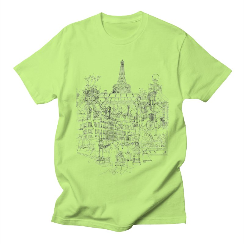 Paris! Men's T-shirt by David Bushell Illustration-Design Shop