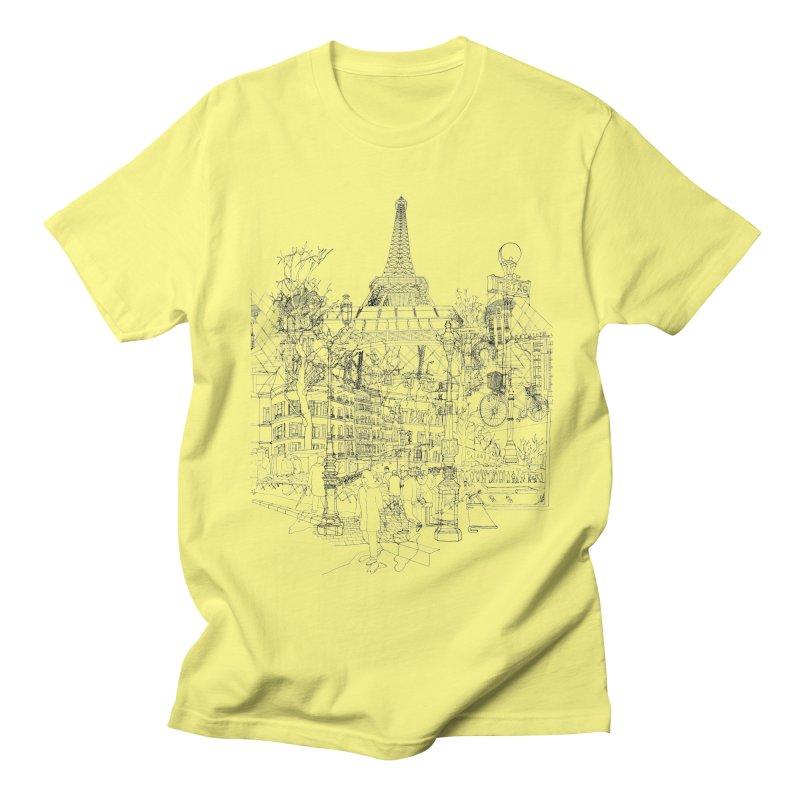 Paris! Men's T-shirt by David Bushell Illustration-Design Shop