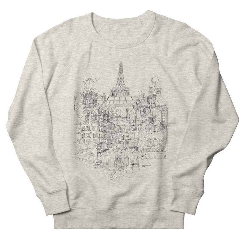 Paris! Men's Sweatshirt by David Bushell Illustration-Design Shop