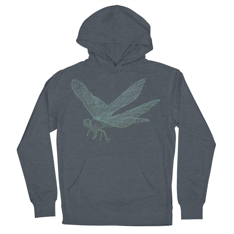 Dragonfly Men's Pullover Hoody by David Bushell Illustration-Design Shop