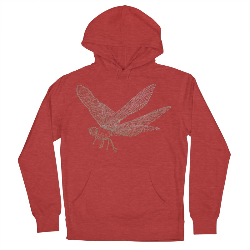 Dragonfly Men's Pullover Hoody by David Bushell Illustration-Design Shop
