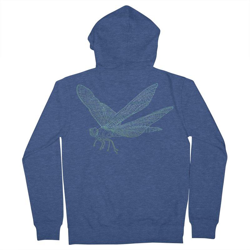 Dragonfly Men's Zip-Up Hoody by David Bushell Illustration-Design Shop