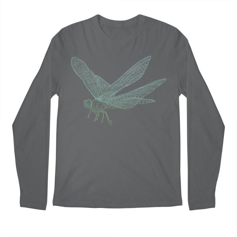 Dragonfly Men's Longsleeve T-Shirt by David Bushell Illustration-Design Shop