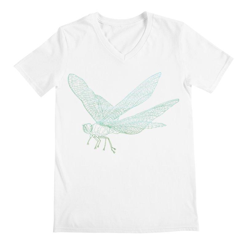 Dragonfly Men's V-Neck by David Bushell Illustration-Design Shop