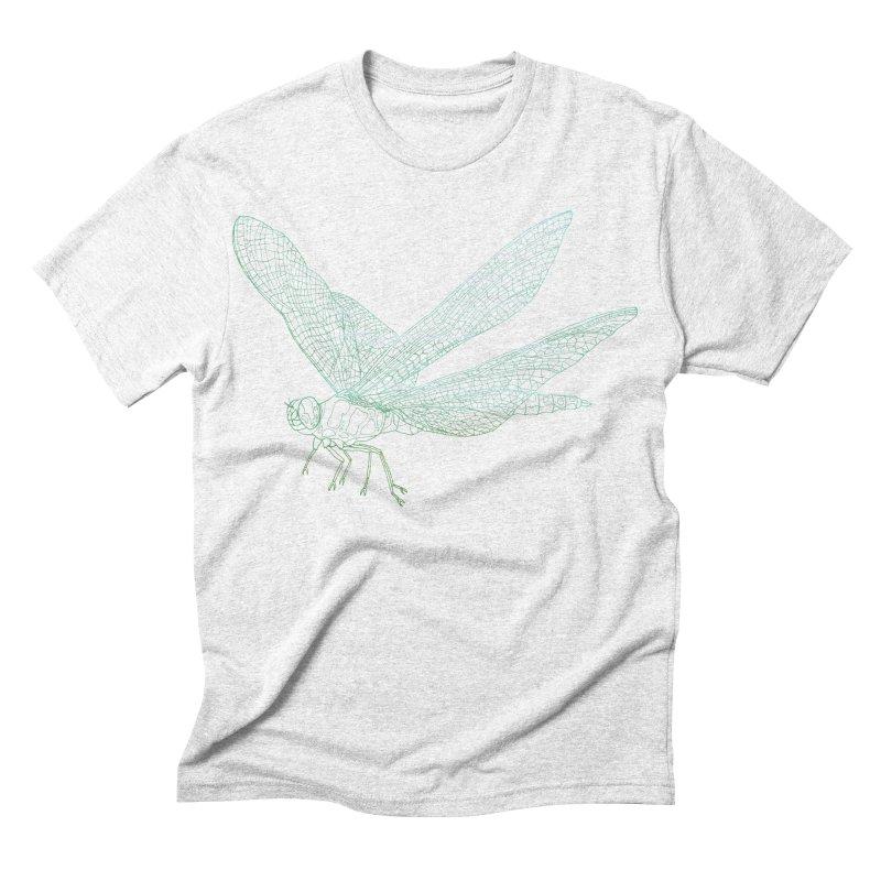 Dragonfly Men's Triblend T-shirt by David Bushell Illustration-Design Shop