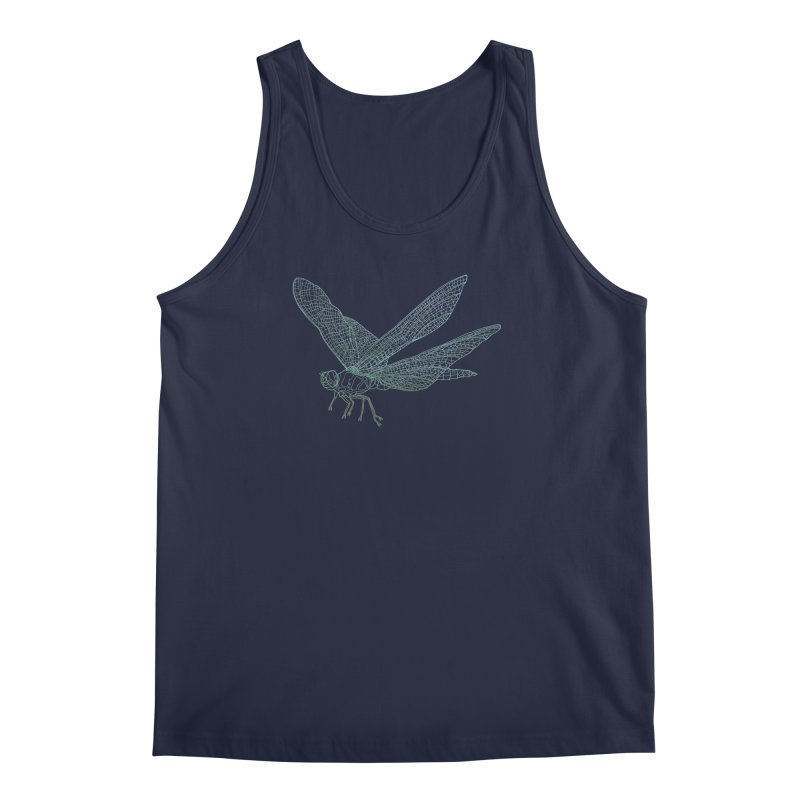 Dragonfly Men's Tank by David Bushell Illustration-Design Shop
