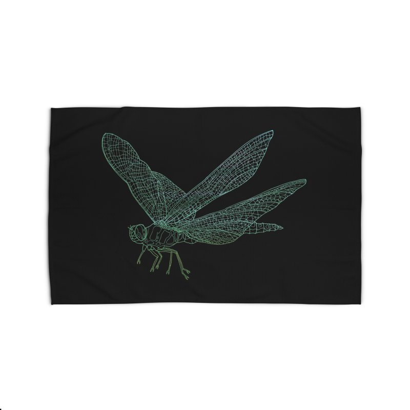 Dragonfly Home Rug by David Bushell Illustration-Design Shop