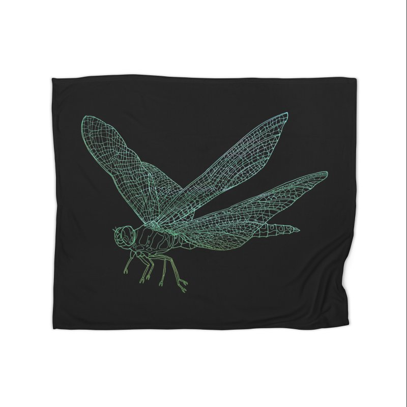 Dragonfly Home Blanket by David Bushell Illustration-Design Shop