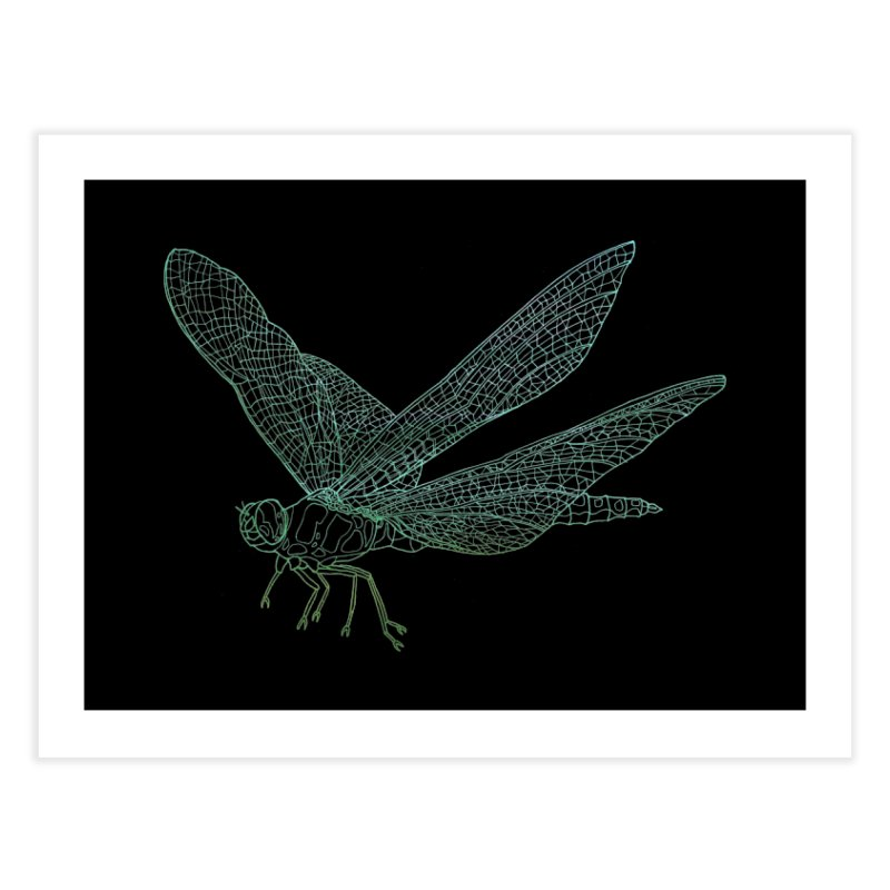 Dragonfly Home Fine Art Print by David Bushell Illustration-Design Shop