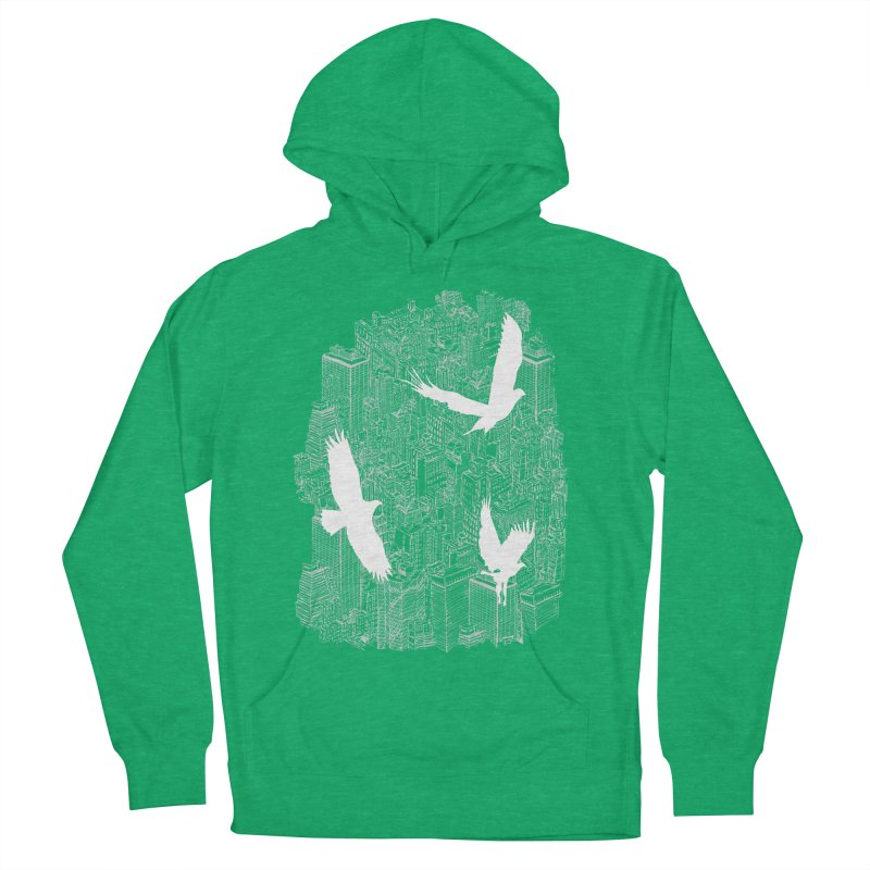 Ecotone (dark tee) Men's Pullover Hoody by David Bushell Illustration-Design Shop