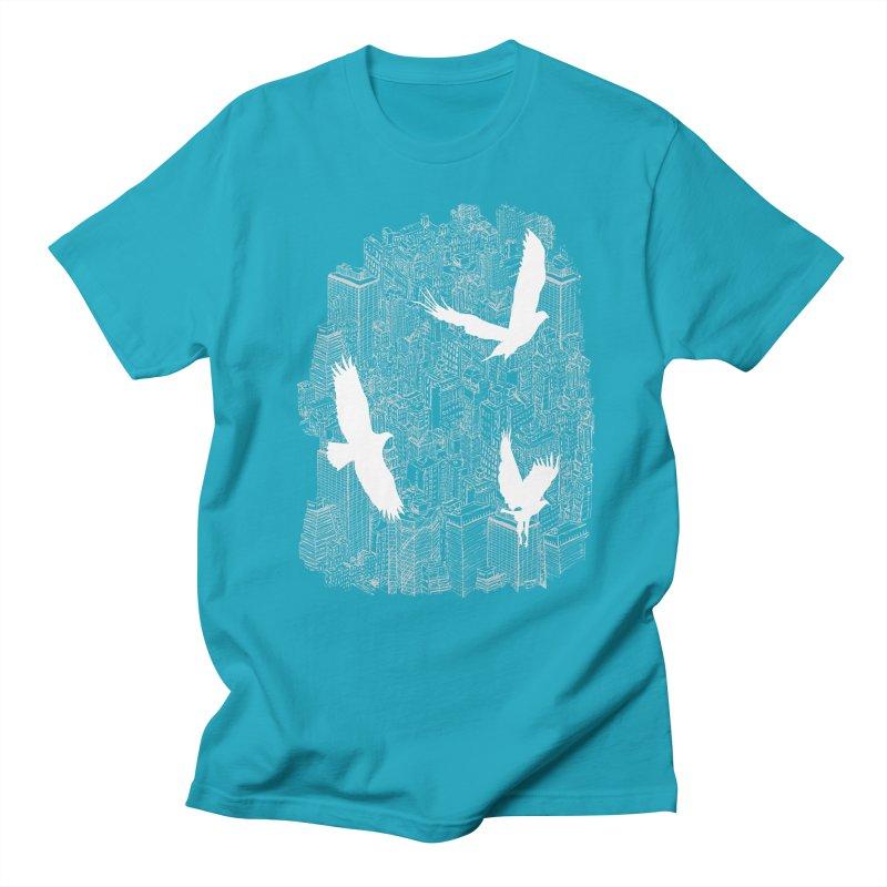 Ecotone (dark tee) Men's T-shirt by David Bushell Illustration-Design Shop