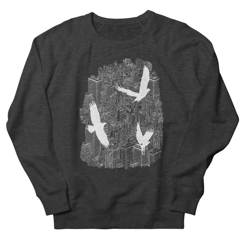Ecotone (dark tee) Men's Sweatshirt by David Bushell Illustration-Design Shop