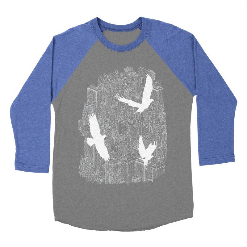 Ecotone (dark tee) Men's Baseball Triblend T-Shirt by David Bushell Illustration-Design Shop