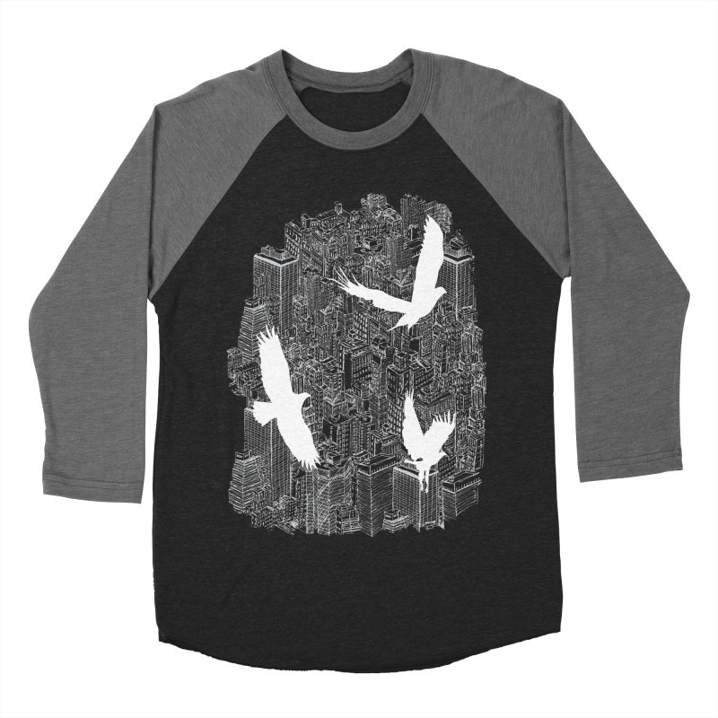Ecotone (dark tee) Men's Baseball Triblend T-Shirt by David Bushell Illustration-Design Shop