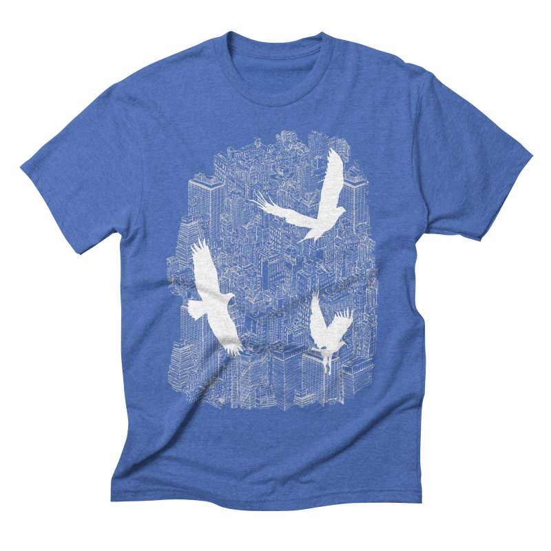 Ecotone (dark tee) Men's Triblend T-shirt by David Bushell Illustration-Design Shop