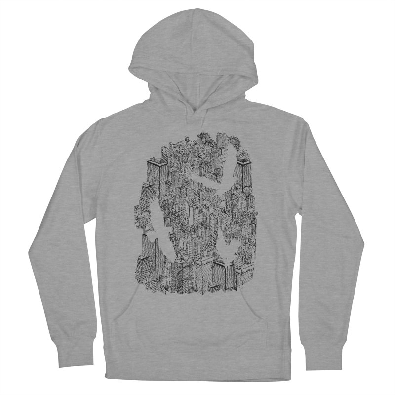 Ecotone Men's Pullover Hoody by David Bushell Illustration-Design Shop