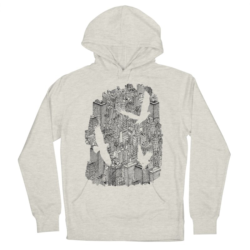 Ecotone Men's Pullover Hoody by David Bushell Illustration-Design Shop