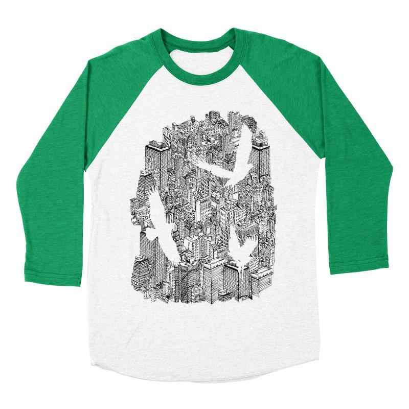 Ecotone Men's Baseball Triblend T-Shirt by David Bushell Illustration-Design Shop