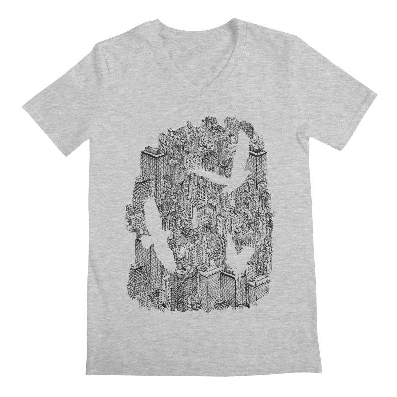 Ecotone Men's V-Neck by David Bushell Illustration-Design Shop